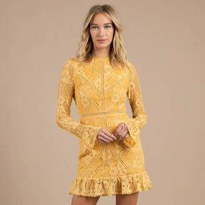 Tobi Victoria Yellow Lace Dress